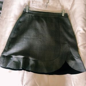 Plaid gray skirt from Zara